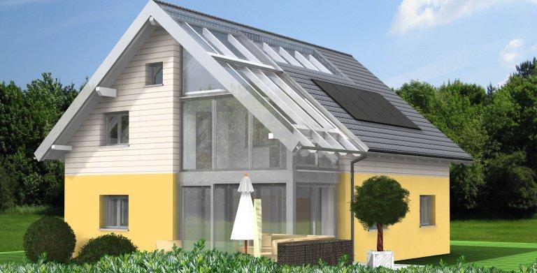 Planungsbeispiel Einfamilienhaus 151H15 - Ansicht Südseite