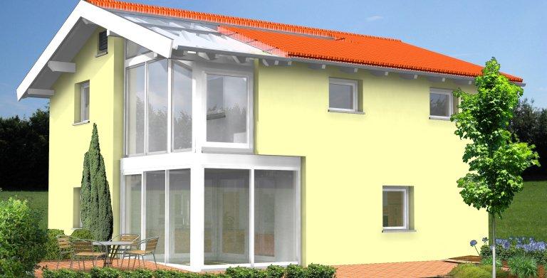 Planungsbeispiel Einfamilienhaus 120H20 - Ansicht Südseite