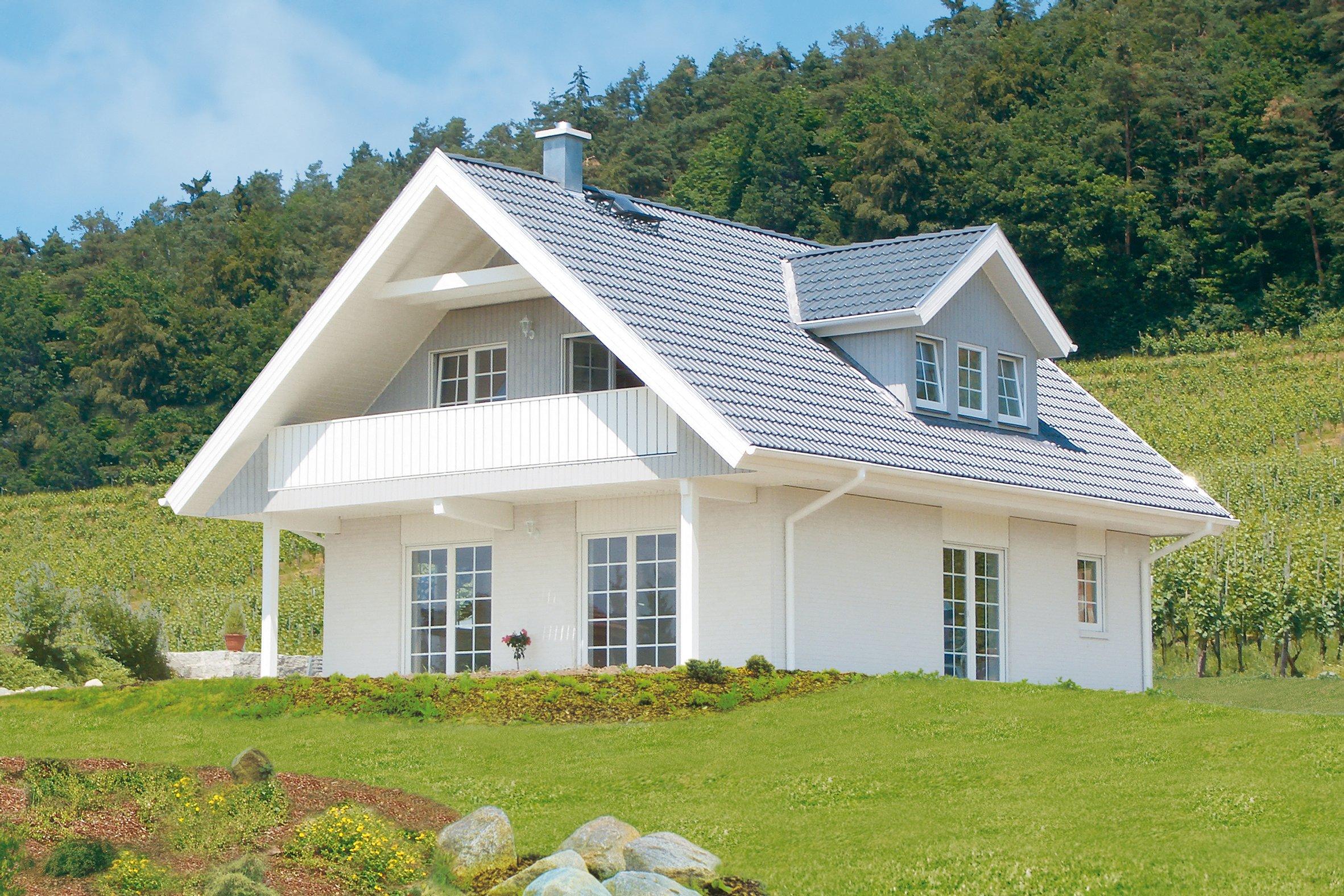 Ansicht des Hauses Sonnholm - Das 1Liter-Haus!