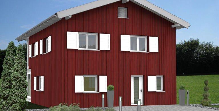 Planungsbeispiel Einfamilienhaus 152H20 - Ansicht Nordseite