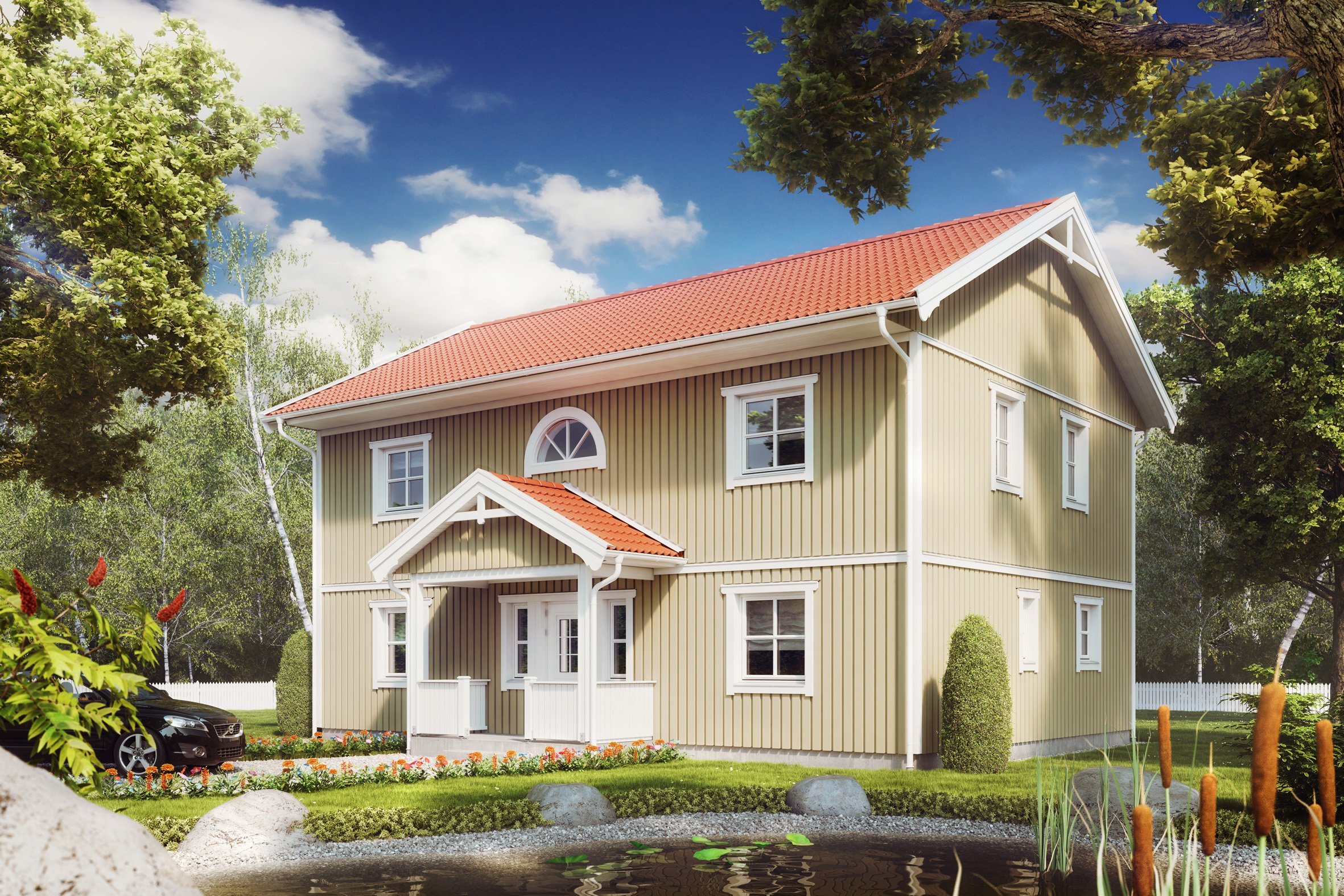 Ansicht des Hauses von ALADOMO Schwedenhaus GmbH & Co. KG