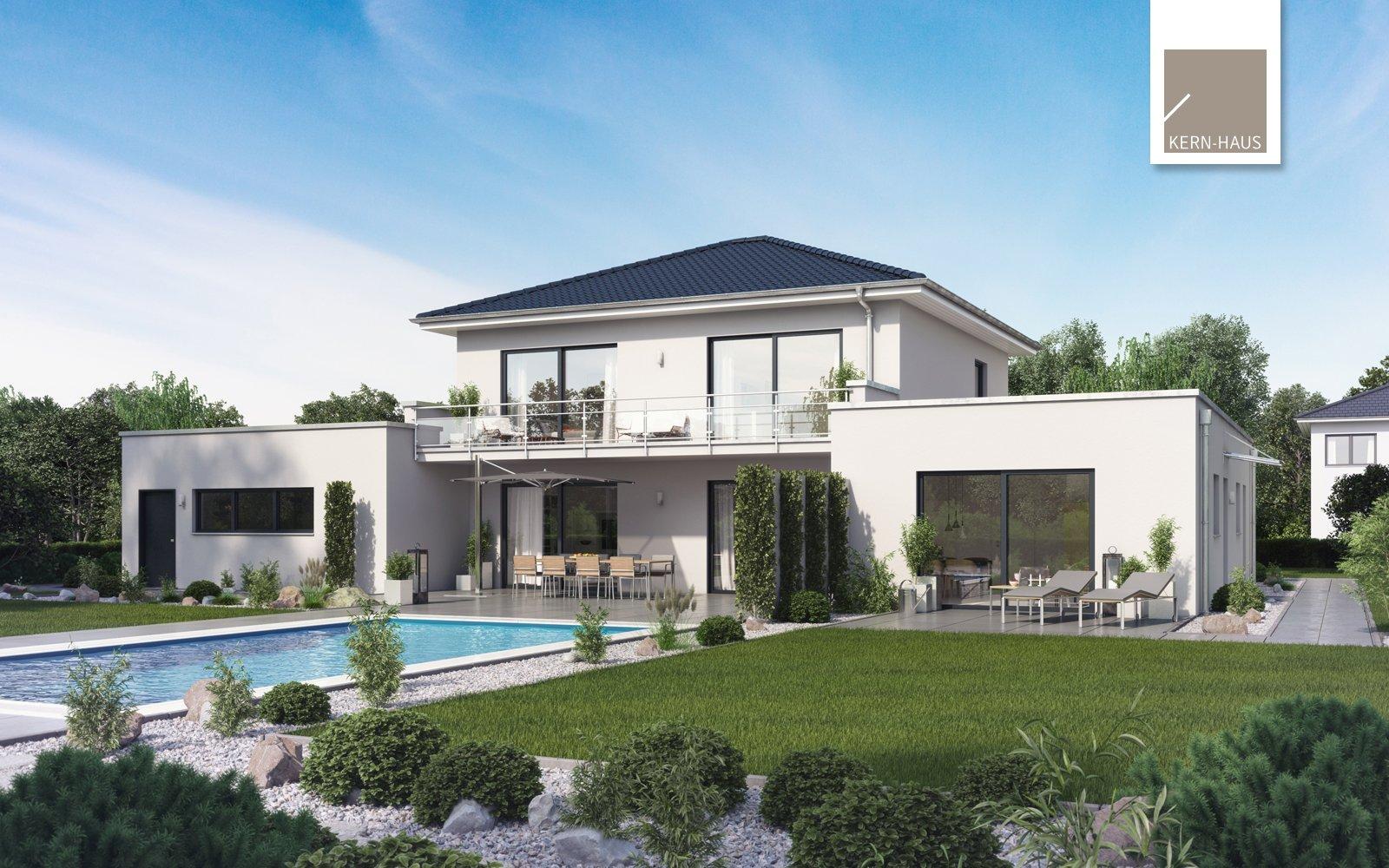 Kern-Haus Mehrfamilienhaus Vivaro Gartenseite