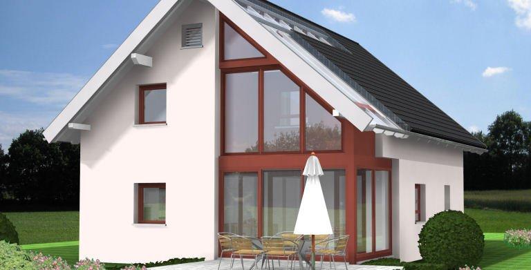 Planungsbeispiel Einfamilienhaus 125H15 - Ansicht Südseite
