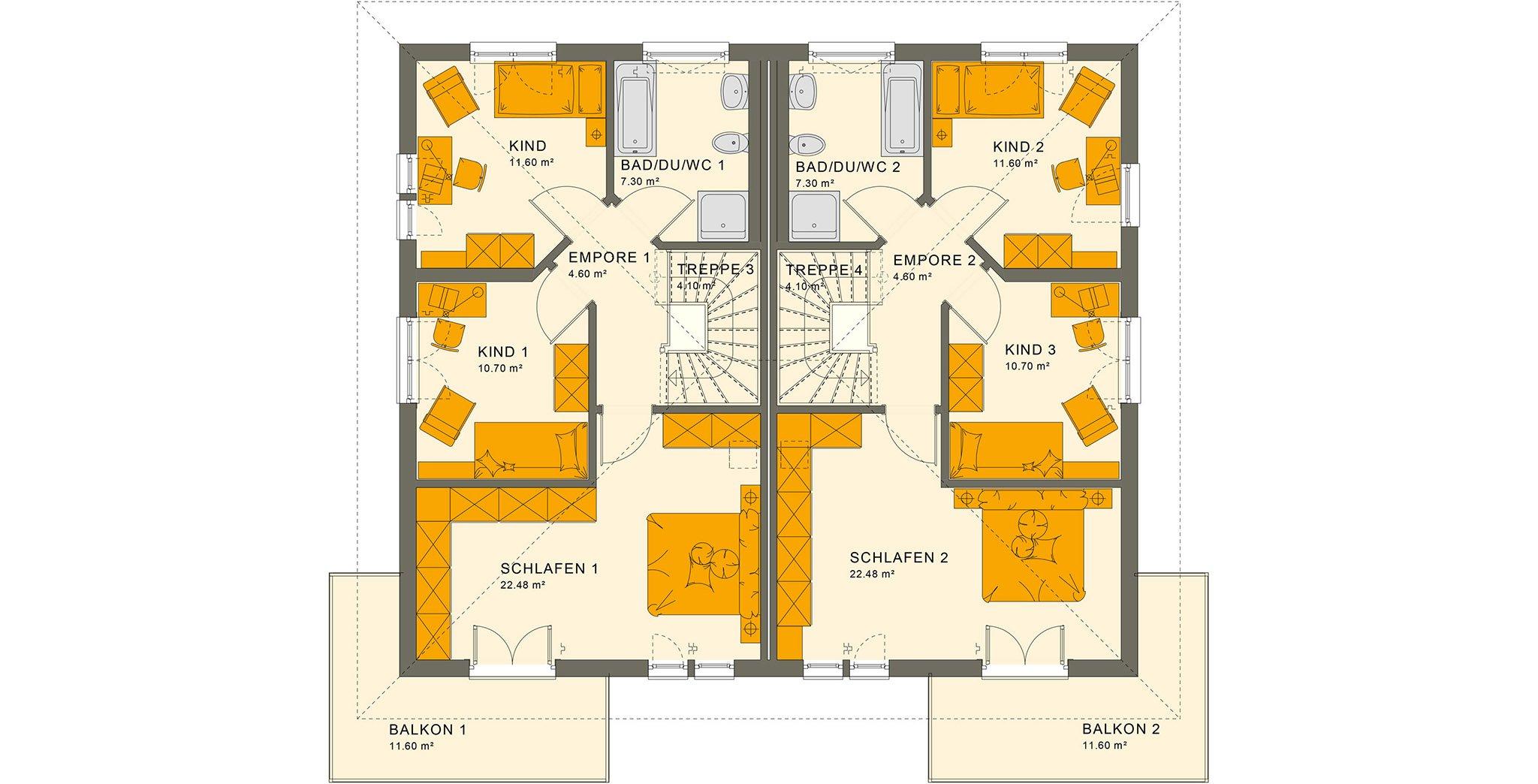 SOLUTION 242 V6 Obergeschoss