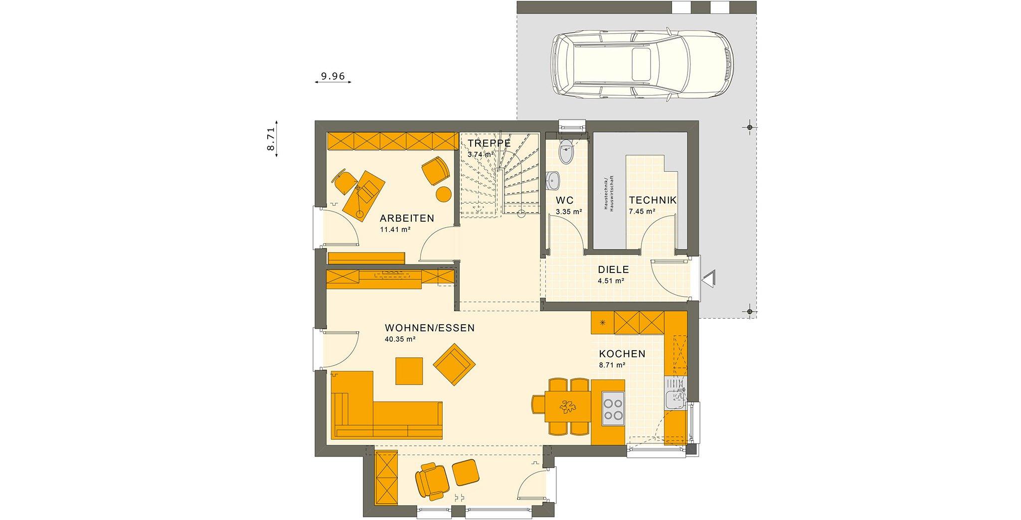 SUNSHINE 143 V5 Erdgeschoss