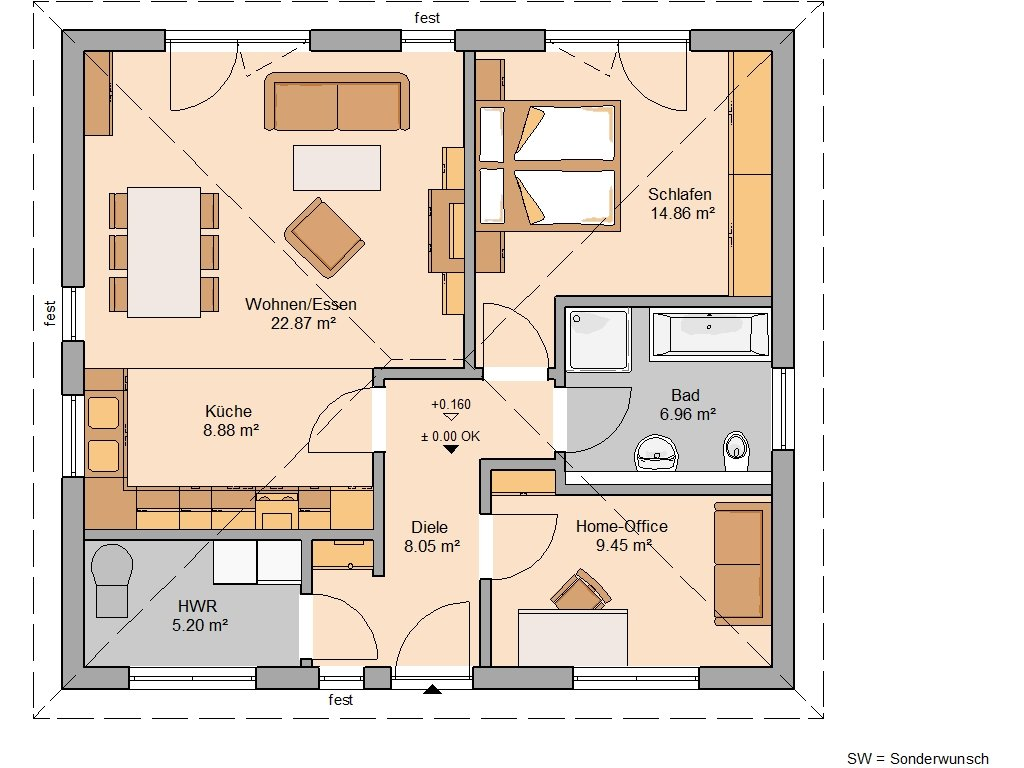 Grundriss KH Bungalow Easy
