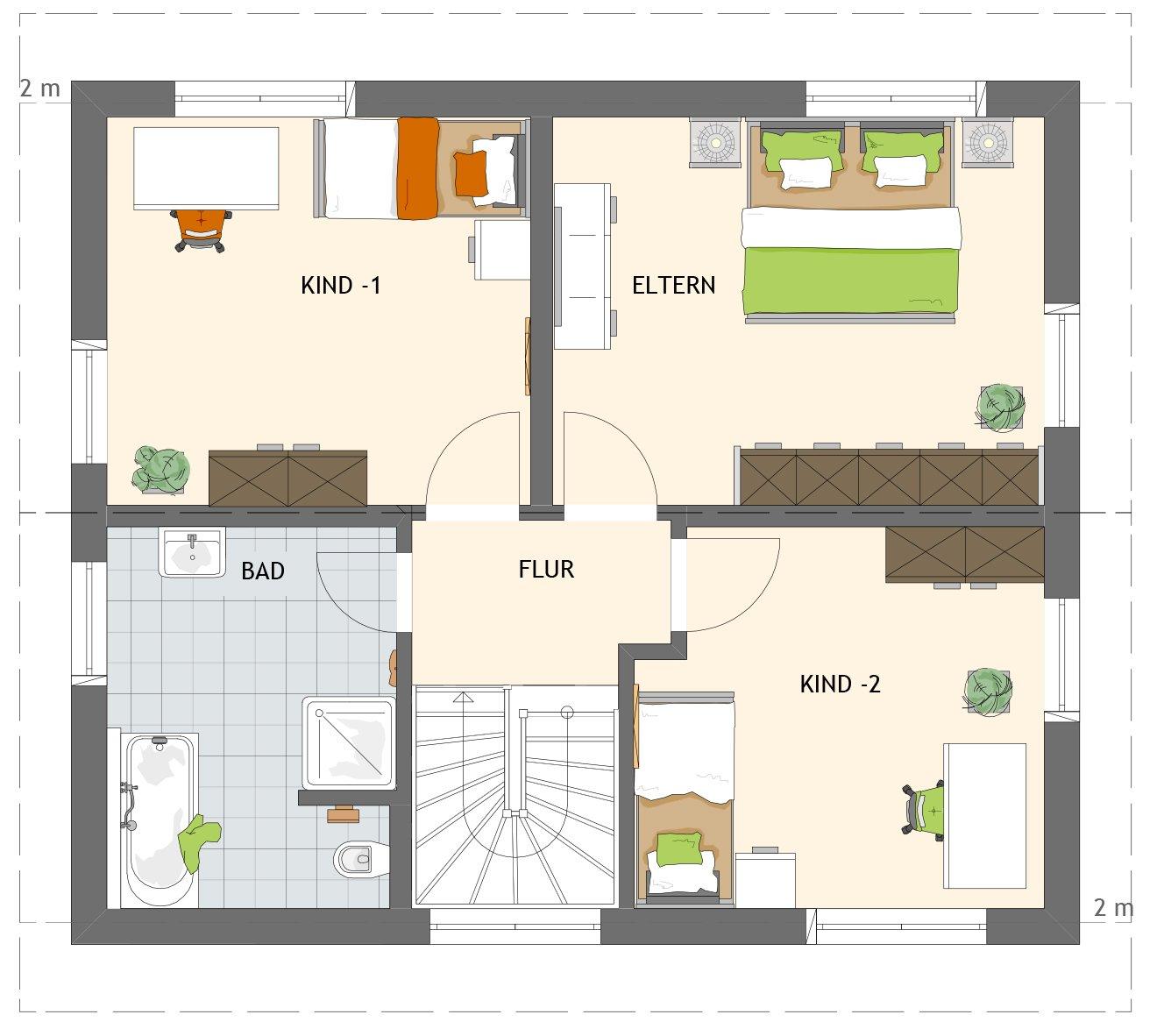 Ansicht des Hauses MEDLEY 3.0 110 A S215