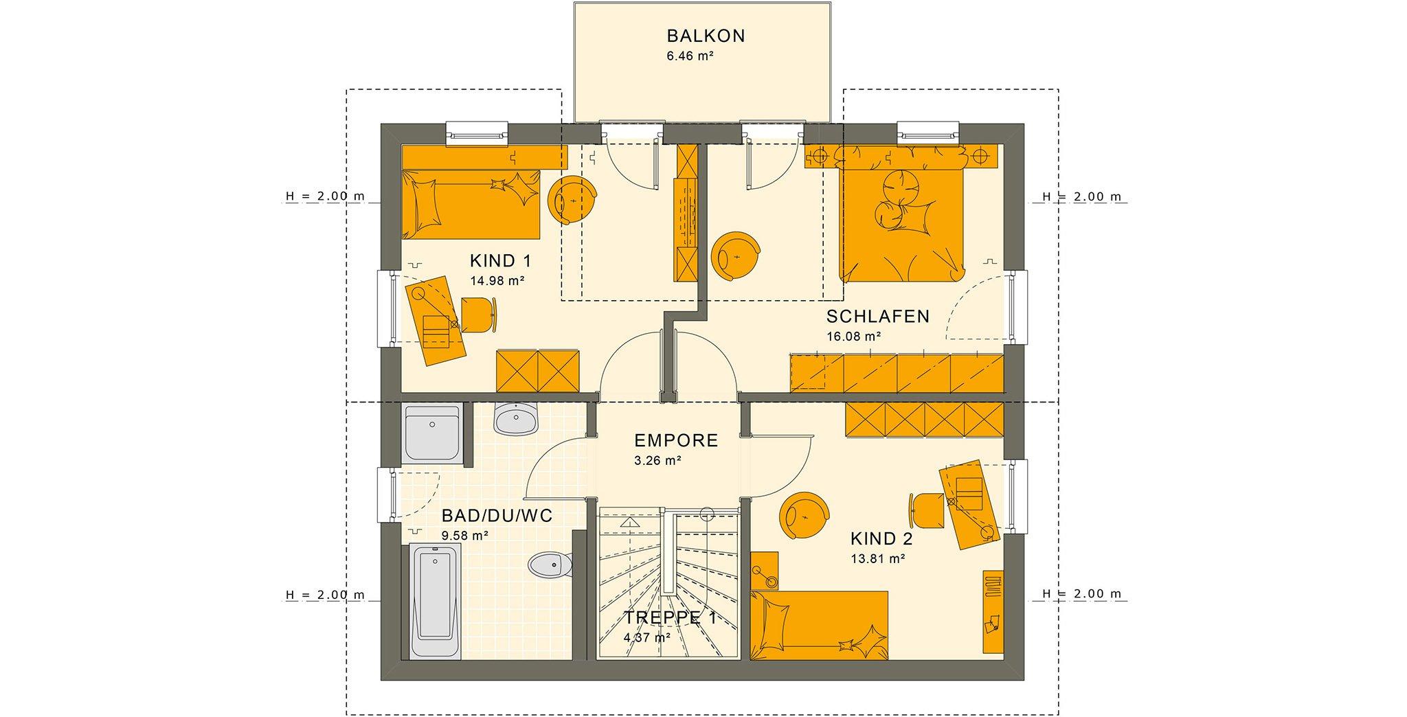 SUNSHINE 125 V4 Dachgeschoss