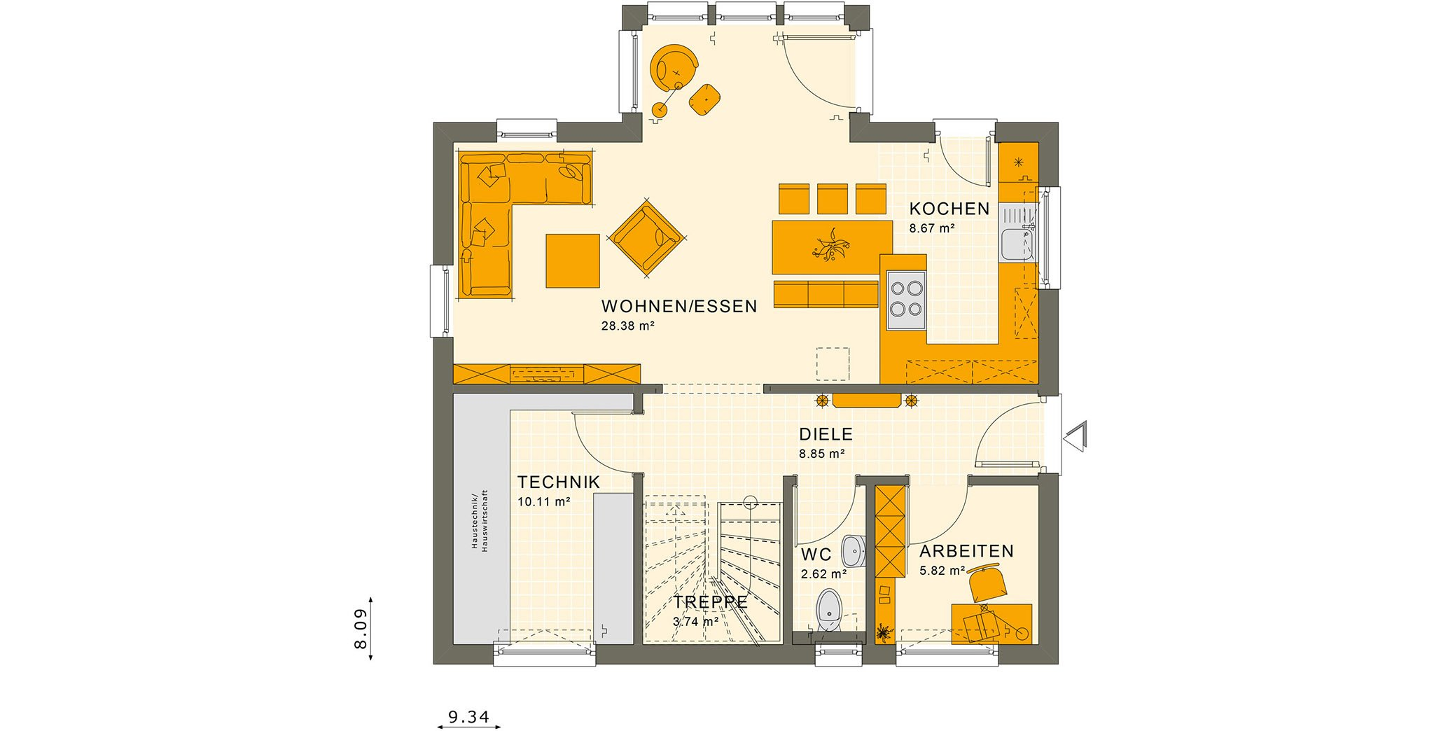 SUNSHINE 125 V4 Erdgeschoss