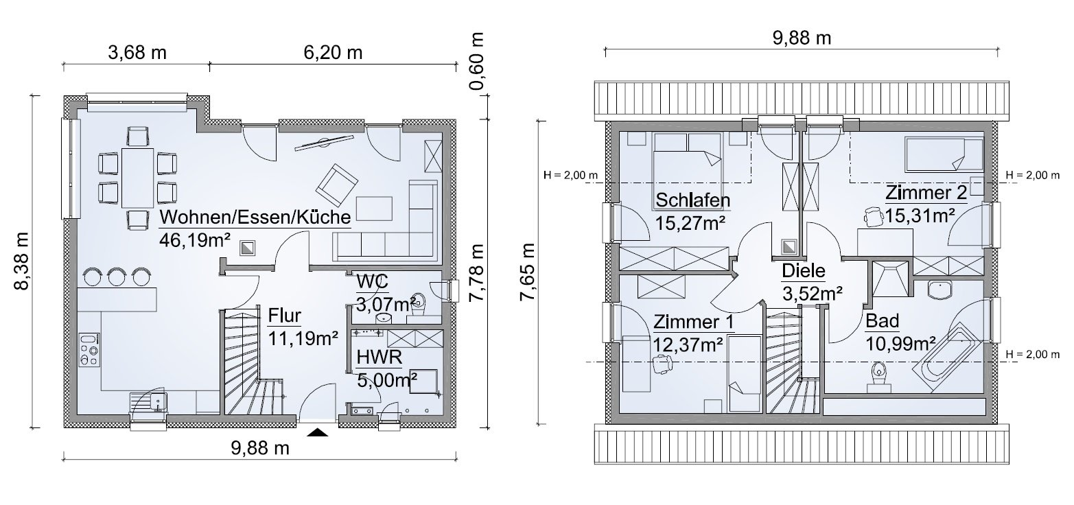 Grundriss SH 124 Variante B