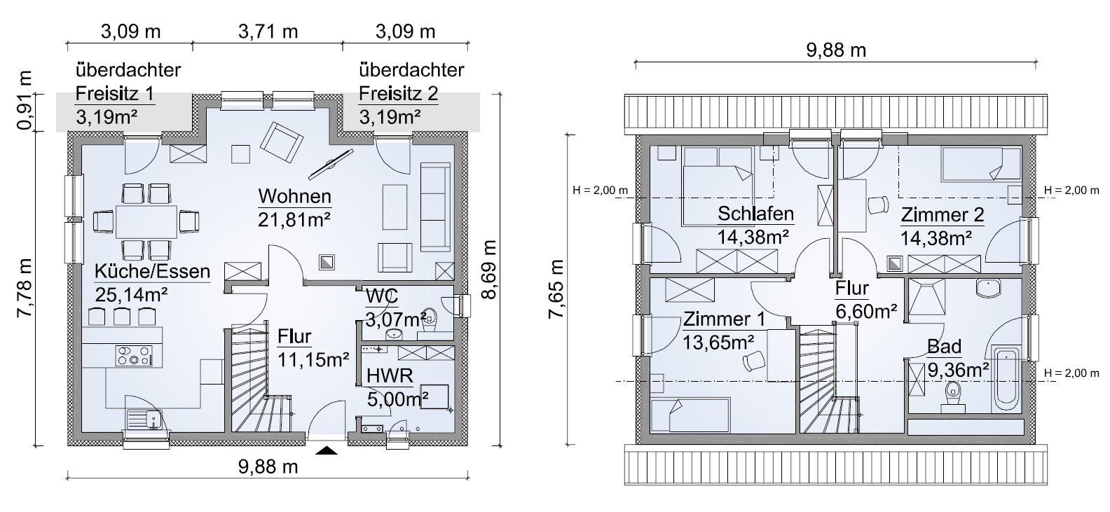 Grundriss SH 131 Variante B