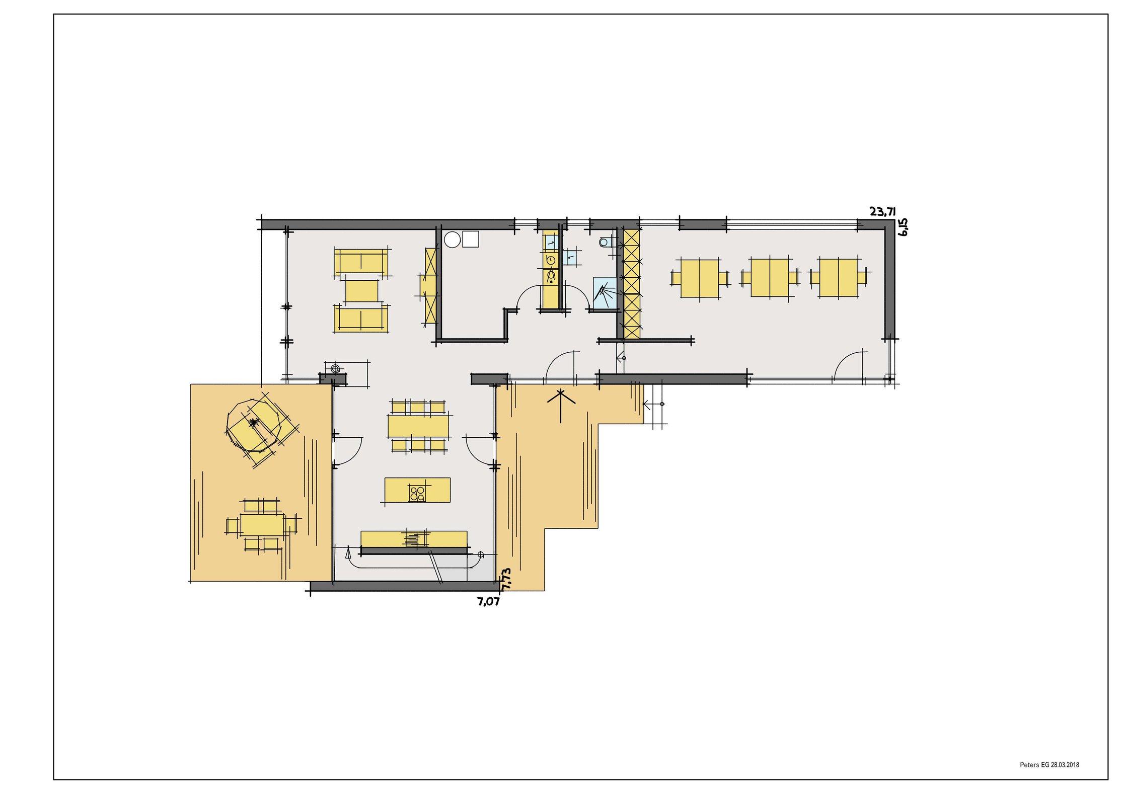 Copic-Grundriss EG Haus Peters