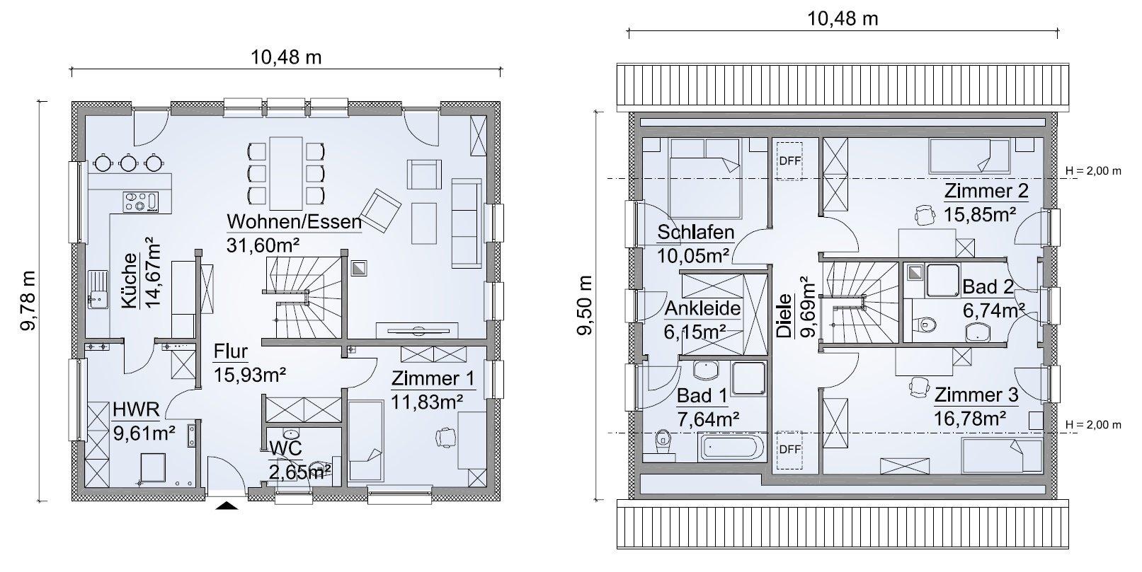 Grundriss SH 158 Variante B