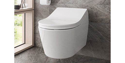 Das elegante WASHLET RX von TOTO präsentiert sich durchgängig und harmonisch und erfüllt höchste Ansprüche an Hygiene.