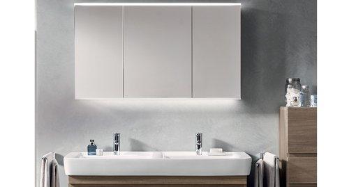 Die universellen Spiegelschränke Keramag Option sind eine ideale Ergänzung zu allen Keramag Keramiken und Badmöbeln.