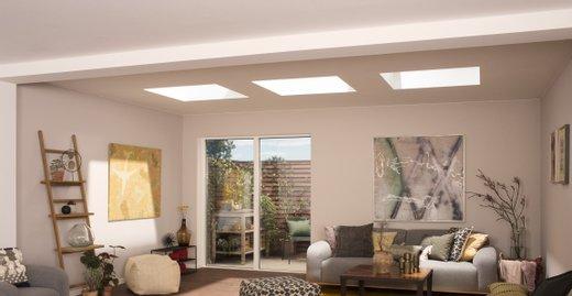 Flachdach-Fenster bringen Licht unter flache und flach geneigte Dächer.