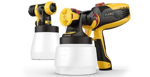 Mit dem handlichen W 590 FLEXiO-Sprühgerät wird jeder zum Profi-Heimwerker