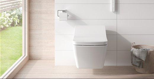 Mit seiner, klaren Form erweitert das neue WASHLET SX die Auswahl der Modelle an Dusch-WCs von TOTO.