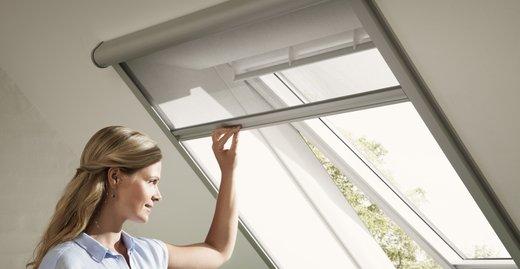 Kinderleichtes Öffnen und Schließen ermöglicht einen flexiblen Schutz vor Insekten.