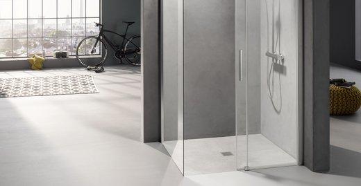 Das normgerechte Komplette: Mit dem neuen POINT Komplett-Duschboard E90 von Kermi entsteht schnell und sicher bei jeder Renovierung ein barrierefreier Duschbereich, der alle gesetzlichen Normen erfüllt.