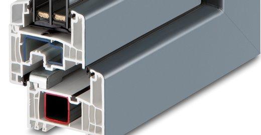 Mit einer Bautiefe von 82,5 mm und mit sechs Profilkammern in Blendrahmen und Flügel sowie mit drei durchgängigen Dichtebenen bietet das Kunststoff-Fenster KF 694 eine hervorragende Wärmedämmung bis zu einem Uw-Wert von 0,75 W/m²K.