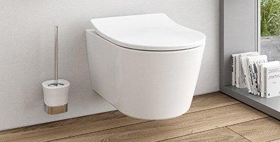 Elegant beim WC RP ist die visuelle Einheit aus Keramik und Sitz.