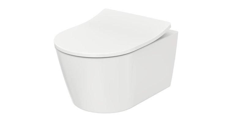 Eine perfekte Symbiose bildet das WC RP mit seinem extra flachen Sitz aus strapazierfähigem Ureaharz.