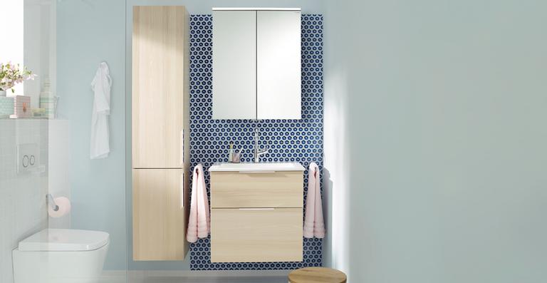 Derselbe Raum – ein ganz neues Bad! Dank seiner Vielfalt an Materialien und Oberflächen genießen Sie zahlreiche Kombinationsmöglichkeiten in nur einem Programm. nexus product design