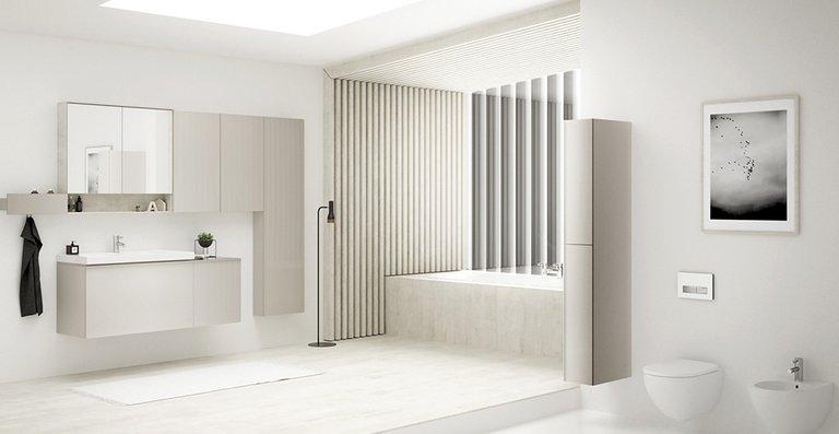 Ein individuell gestaltetes Badezimmer ohne Kompromisse – für Singles, Paare und Familien. Diese Möglichkeit bietet die neue Badserie Keramag Acanto.