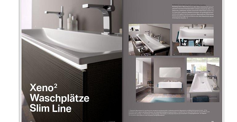 Als Planungshilfe und Nachschlagewerk kombiniert das Magazin zahlreiche Badansichten mit Wissenswertem rund um die Themen Design, Technik und Wasser.