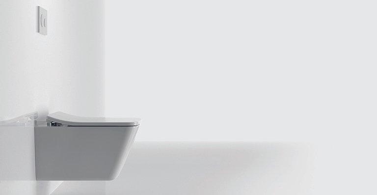 Auch von der Seite überzeugen die feinen Konturen des neuen SP WCs von TOTO.