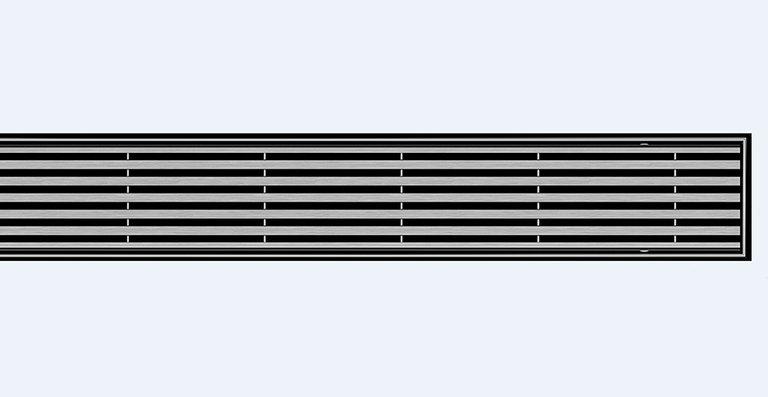 Der neue Design-Rost ACO Linear für die bodenebenen Edelstahl-Duschrinnen ACO Showerdrain E+, E, M und ACO ShowerFloor für Linienentwässerung.
