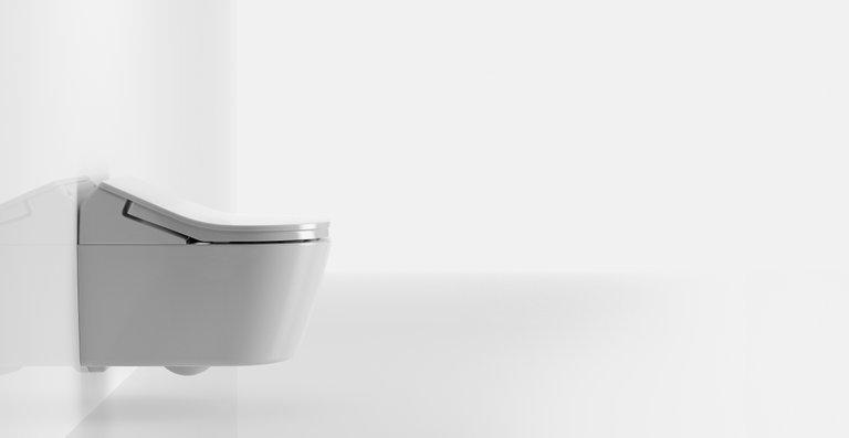 TOTO trennt das WASHLET und die darin integrierte Technik von der WC-Keramik.