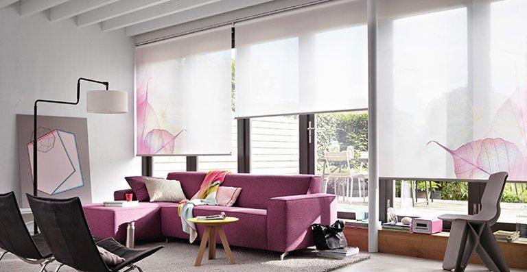 Stylisches Luxaflex® Premium-Rollo für große Fensterflächen