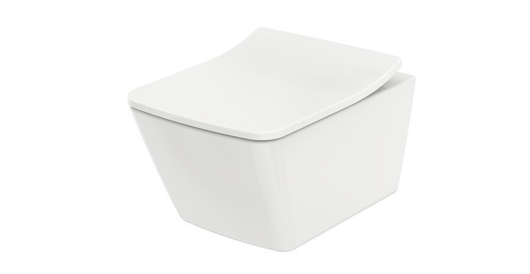 Das neue WC SP verschmilzt mit seinem extra flachen Sitz aus strapazierfähigem Ureaharz zu einer optischen Einheit und bildet eine perfekte Symbiose.