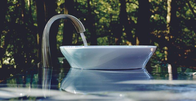 Die Armatur passt vorzugsweise in ein Interieur mit fließenden, harmonischen Formen und wird gerne in Privathaushalten eingesetzt.
