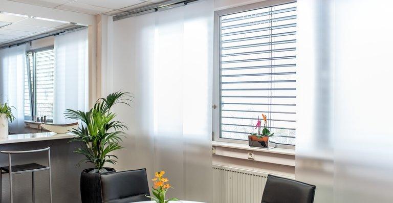 Transluzenz-Folie verhindern durch seine matte Optik neugierige Blicke und lässt gleichzeitig weiches Sonnenlicht hinein.