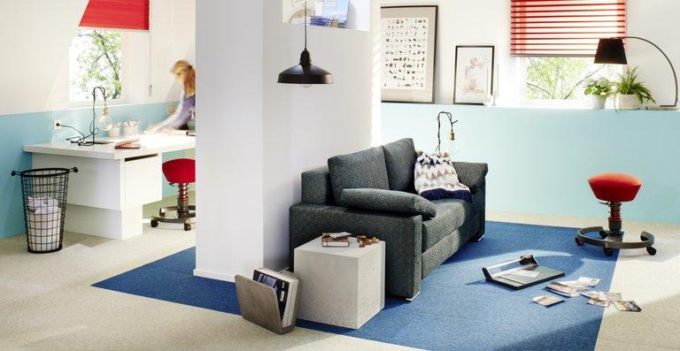 Die frischen Farben des Büscher-Triplé fügen sich harmonisch in die unterschiedlichsten Wohnstile ein.