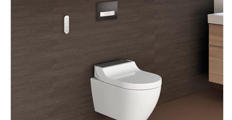 Überraschend vielseitig: Das neue Dusch-WC vereint elegantes Design mit durchdachter Technik.