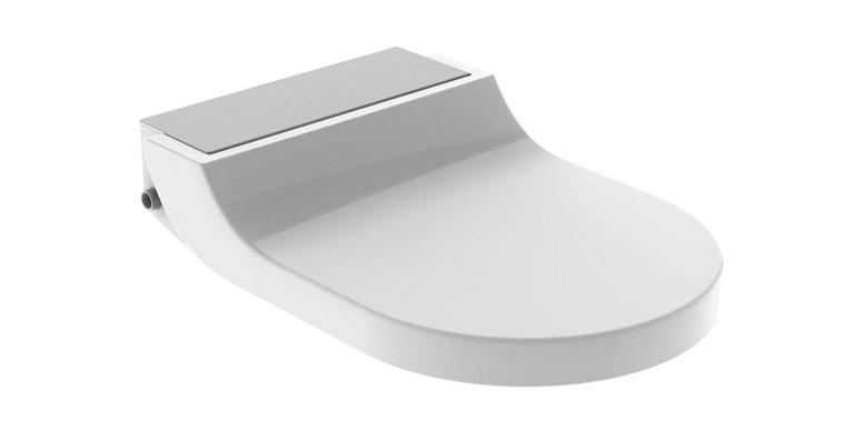 Unkomplizierte Nachrüstung: Alternativ zur Komplettanlage bietet Geberit AquaClean Tuma auch als WC-Aufsatz an.