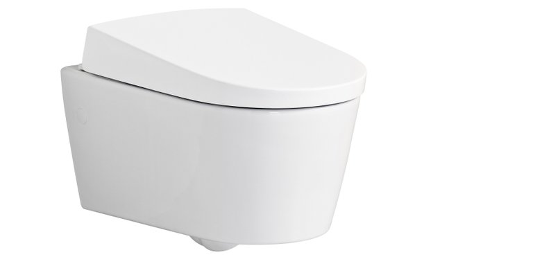Dusch-WC auf den zweiten Blick: Bei geschlossenem Deckel sieht man Geberit AquaClean Sela die integrierte Technik nicht an.