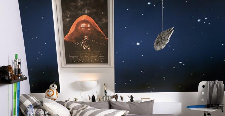 Unter den Lieblingshelden aus der Star Wars Saga schläft es sich doch am besten.