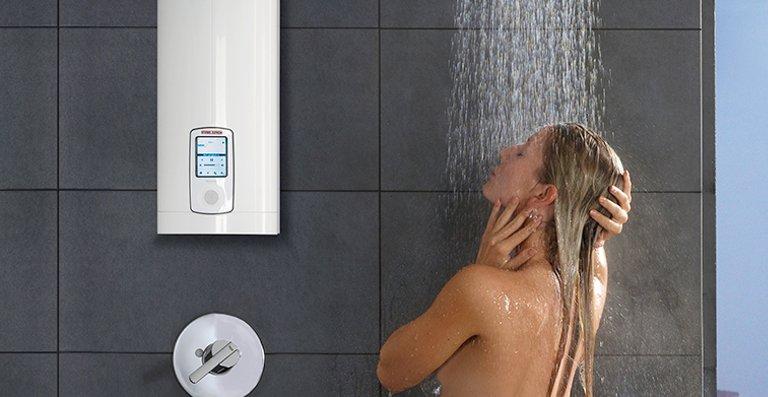 Duschkomfort ganz nah, die DHE-Modelle können auch problemlos in der Dusche montiert werden