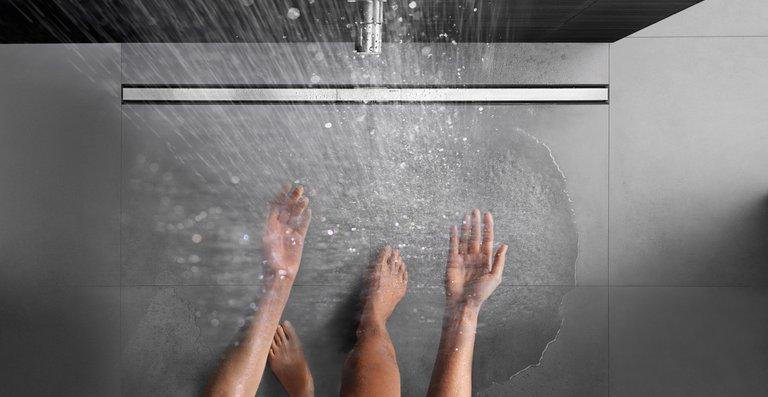 Für Neubau und Renovierung: Die Duschrinne aus dem Hause Geberit wird allen baulichen Anforderungen gerecht.