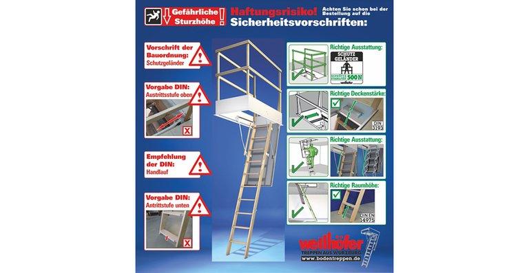 Bodentreppen: NEUE DIN und Sicherheitsvorschriften.
