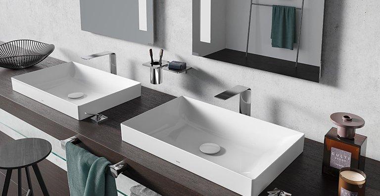 Die hochwertige ZL-Armatur passt besonders gut zu dünnwandigen Waschtischen.
