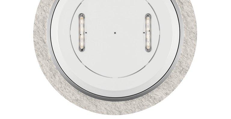 Das Lighting Pad 600 mit seinem weich geformten, rückseitigen Cover eignet sich auch perfekt für die Anwendung in Lounge- und Wohnbereichen.