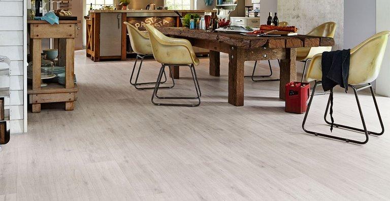 MEISTER Designboden Catega® Flex DD 300 (S) Eiche arcticweiß 6946   Rohholz-Poren-Struktur   Holznachbildung