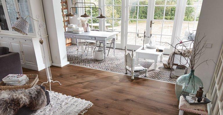 MEISTER Lindura-Holzboden HD 300 mattlackiert | naturgeölt Nussbaum amerikanisch lebhaft 8523 | mattlackie