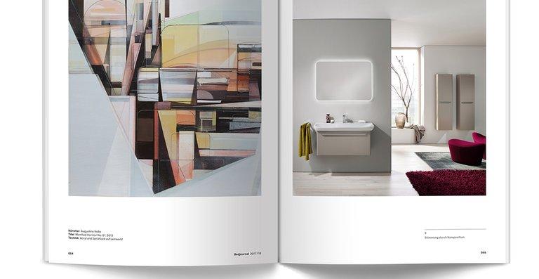 Als Designmagazin und Produktkatalog punktet das Bad-Journal mit seinen zahlreichen Einrichtungsbeispielen.